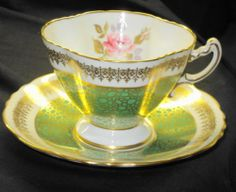 Hammersley England Green Gold Lace Chintz TEA CUP AND Saucer | eBay