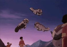 Omg baby air bison. Legend of Korra. Learning to Fly *gif*