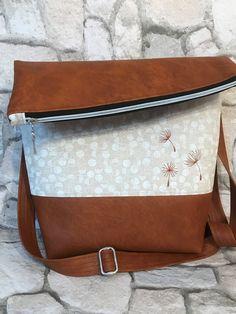 Schultertaschen - FoldOver 2.0 Tasche, Leinen-Canvas, Pusteblume - ein Designerstück von Kleine-Wollbude bei DaWanda