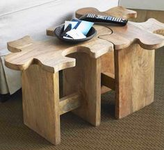 puzzle stool/ coffee table.. i could make this!