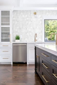 White Backsplash Tile Quartz Countertop