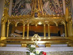 The body of Saint Louise de Marillac, found to be incorrupt by the Catholic Church. (b. August 12, 1591 - d. March 15, 1660).