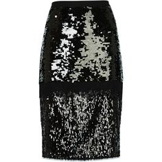 CRISTAL MIXED SEQUINED PENCIL SKIRT ($298) ❤ liked on Polyvore featuring skirts, bottoms, pencil skirts, pencil skirt, frilly skirt, elastic waist pencil skirt, ruffle pencil skirt and metallic pencil skirt