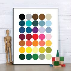 Colorful Dots Art Print Poster Fine Art Painting Home Wall Decor Without Frame //Price: $US $4.98 & FREE Shipping //     #TheGallery.Store