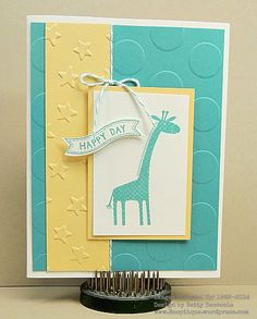 CAS baby Card - SU - Zoo Babies