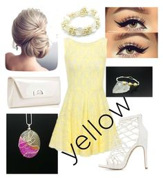 """yellow dress"" by ericarae-1 on Polyvore featuring Charlotte Russe and Christian Louboutin"