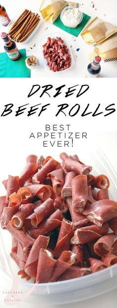 How to make easy dried beef roll appetizers. This is the perfect recipe for a party that can be made ahead for a large crowd.
