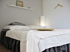 Schlafzimmer, grau, weiß, Holz, ikea, H u.M