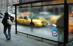 Windex, street marketing, marketing callejero, bus stop, parada de omnibus, publicidad, advertising, ads, creativity, creatividad, polucion visual, contaminacion visual