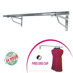 garment-clothes-rail-wall-mounted-hanging-rail-shop-display-4ft-5ft-6ft-Tubing