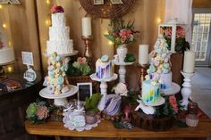 sample cakesfrom @bijoussweets mixed with whimsical english garden display theme @khimairafarm