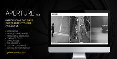 Aperture Ghost Photography Theme v.1.3.1  The Aperture theme has been updated for Ghost 0.4.x and now supports tag archives, static pages, featured posts and includes a sidebar fly-in navigation me...
