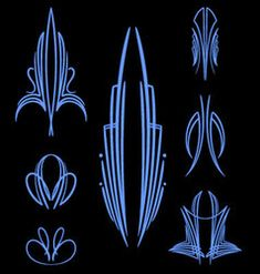 Pinstripe Vector Images (over Car Pinstriping, Pinstriping Designs, Line Art Vector, Color Vector, Pinup, J Birds, Revell Model Kits, Warm Color Schemes, Pinstripe Art