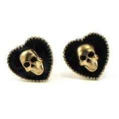 Gothic Wedding Cufflinks  The Dark Heart  by ghostlovejewelry, $35.00