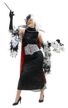 Naamiaisasu; 101 Dalmatialaista Cruella De Vil Lisensoitu Naamiaisasu; 101 Dalmatialaista Cruella De Vil asu. Äkkiä kaikki Dalmatialaiset piiloon tai niistä tehdään turkki. #naamiaismaailma