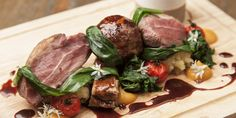 This hearty lamb recipe from Matt Weedon showcases Cotswold reared lamb in his version of a 'mixed grill', featuring lamb belly, lamb rump and lamb faggots.