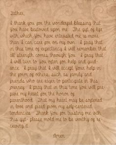 Pregnancy Prayer