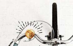 Skull Bike Bell: Eenvoudige messingsklok met houding.
