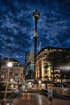 Sydney (Australia) from Hyde Park by dicktay2000, via Flickr