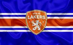 Download wallpapers Vaxjo Lakers HC, Swedish hockey club, 4k, emblem, logo, Swedish Hockey League, SHL, hockey, V?xj?, Sweden