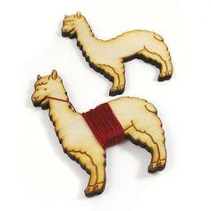Flossy the Llama Embroidery Floss Bobbin by sugarcookie on Etsy #etsy #bobbin #llama #alpaca #sew #embroidery