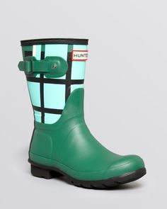 Hunter Rain Boots - Original Short Tartan
