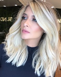 Human hair lace front real quality human hair wigs for caucasian Blonde Hair Looks, Brown Blonde Hair, Icy Blonde, Clavicut, Medium Hair Styles, Short Hair Styles, Biolage Hair, Gorgeous Hair, Beautiful