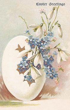 Antique postcard Easter