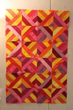 My mom can sew straight lines, though not a quilter, but garment sewer. For the comfort quilts, I have asked her to sew strips and squa...