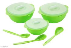 Checkout this latest Bowls_500 Product Name: *Serving Bowl Set* Material : Plastic Description : It Has 6 Pieces Of Serving Bowl Set Country of Origin: India Easy Returns Available In Case Of Any Issue   Catalog Rating: ★4.2 (500)  Catalog Name: Beautiful Home & Kitchen Utilities Vol 5 CatalogID_150889 C190-SC2100 Code: 613-1202611-957