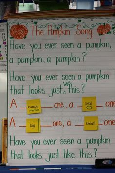 """Have you ever seen a pumpkin?"" song"