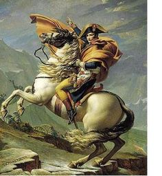 Jacques-Louis David, Napoleon Crossing the Alps or Bonaparte at the St Bernard Pass, oil on canvas, 261 x 221 cm (Chateau de Malmaison, Rueil-Malmaison) Jacque Louis David, The Saint, Chateau De Malmaison, Rueil Malmaison, Oil Painting Reproductions, Anime Meme, Western Art, Oeuvre D'art, Attack On Titan