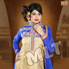 MLT Suits offers a wide range of women's salwar kameez with High Neck, Jari and Cut Work Ghera in Net Fabric. Look gorgeous in this Pink, Blue, Orange and Purple suit.  SKU: M14052 Occasion: Party Wear Colors: PINK, BLUE, ORANGE, PURPLE Price: INR 2,429.00 (Offer: Free Shipping)