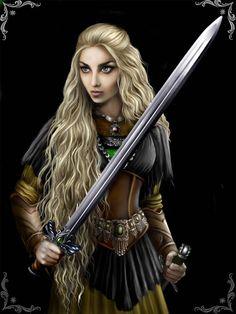 Valkyrie by Esmira on DeviantArt Warrior Girl, Fantasy Warrior, Warrior Women, Fantasy Characters, Female Characters, Vikings, Arcane Trickster, Female Knight, Fantasy Art Women