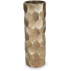 Torre And Tagus Designs Chiseled Brushed Cylinder Vase ($85) ❤ liked on Polyvore featuring home, home decor, vases, cylinder vases, colored vases and coloured vases
