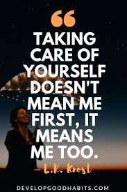 I can't do selfish people!