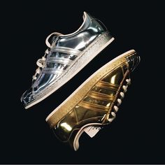 adidas superstar liquid gold/ silver edition