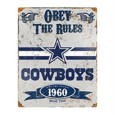 Dallas Cowboys Vintage Metal Sign