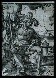 Landsknecht, by Urs Graf, 1513  partially removable sleeve?