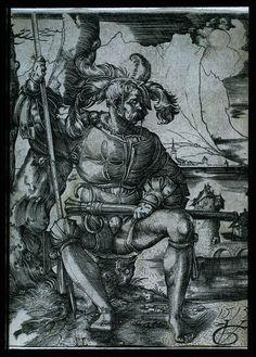 1513 Urs Graf (SWISS) Landsknecht