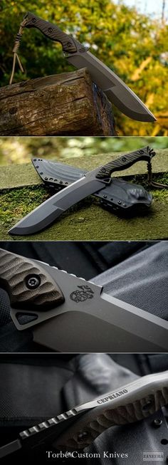 Torbé Custom Knives :: CHEROKEE XXL - USMC Semper fidelis.