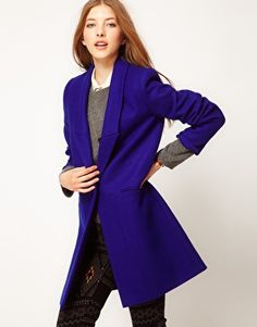 Enlarge Maison Scotch Single Breasted Wool Coat