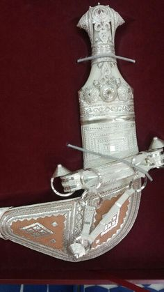 Omani traditional dagger . Khanjer