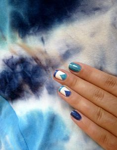 ILNP Float On and Honor Roll, geometric blue nail art, ultra holo Blue Nails, My Nails, Honor Roll, Silver Rings, Nail Art, Jewelry, Jewlery, Jewerly, Schmuck