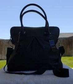 Wilson Leather Executive Satchel Handbag Briefcase Purse XL Black Laptop Bag 3b3cea532e9b6