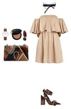 """Spring w/ Dior"" by zeynepkartal on Polyvore featuring moda, Gucci, Daniel Wellington, Bobbi Brown Cosmetics, Fallon ve WardrobeStaples"