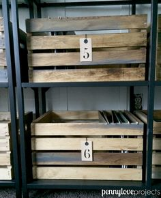 Home Office Makeover: DIY File Crates using craft crates from JoAnn Fabrics. Get all the details on the blog! #diy #wood #crate | pennyloveprojects.com