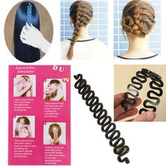 Blue Hair Braider Styling French Plait Twist Style Crown Shaped Sponge Tool UK