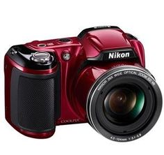 Nikon COOLPIX L810 16.1 MP Digital Camera with 26x Zoom NIKKOR ED Glass Lens and 3-inch LCD (Red)