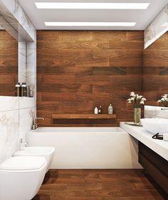 Wood Tile Bathroom Wood Look Tile Bathroom Awesome And Beautiful Best Ideas About Wood Tiles On Stripe Pattern Brick Wood Tile Bathroom Shower Tiles Bathroom Layout, Bathroom Interior, Bathroom Ideas, Bathroom Designs, Bathroom Modern, Bathroom Marble, Master Bathroom, Vanity Bathroom, Budget Bathroom